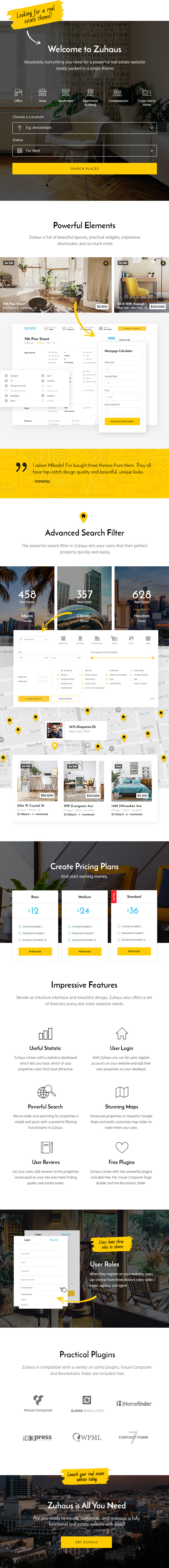 WordPress theme Zuhaus - A Modern Real Estate and Rental Theme (Real Estate)